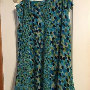 🔴5for$15 KimRogers skirt Green tones SzL